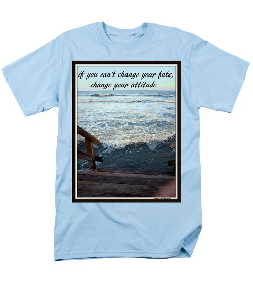 Change Your Attitude Men's T-Shirt  (Regular Fit) by Irma BACKELANT GALLERIES