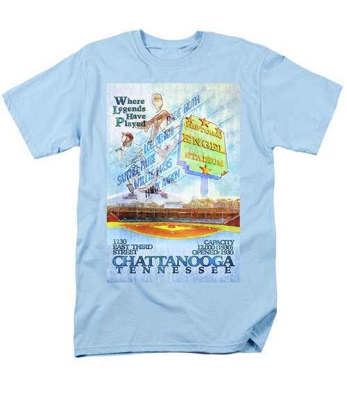 Chattanooga Historic Baseball Poster Men's T-Shirt  (Regular Fit) by Steven Llorca