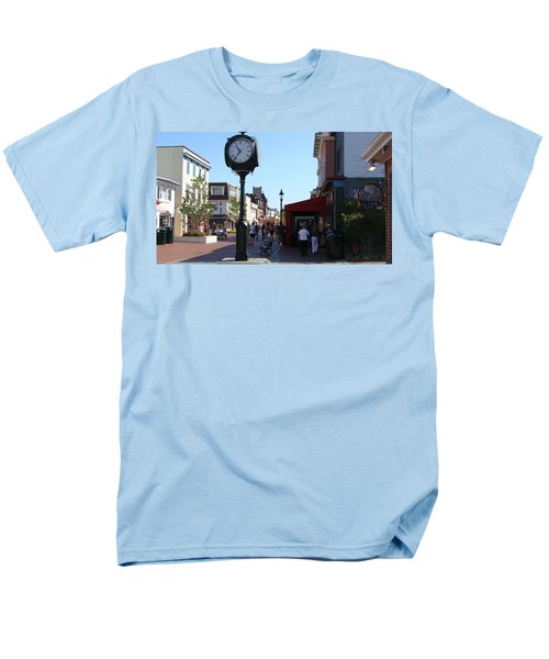 Men's T-Shirt  (Regular Fit) featuring the painting Checking Out The Shops In Cape May by Rod Jellison