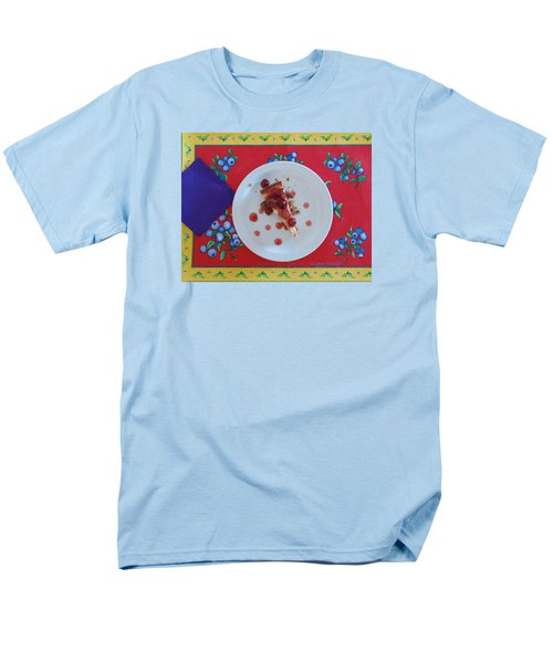 Men's T-Shirt  (Regular Fit) featuring the digital art Cheese Cake With Cherries by Jana Russon