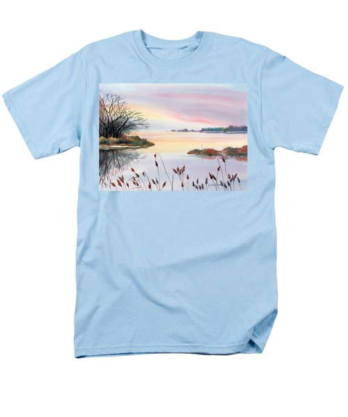 Men's T-Shirt  (Regular Fit) featuring the painting Chesapeake Bay Sunset by Yolanda Koh