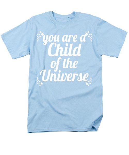 Child Of The Universe Desiderata - Blue Men's T-Shirt  (Regular Fit) by Ginny Gaura