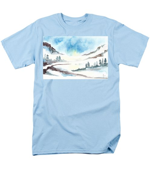 Children's Book Illustration Of Mountains Men's T-Shirt  (Regular Fit) by Annemeet Hasidi- van der Leij