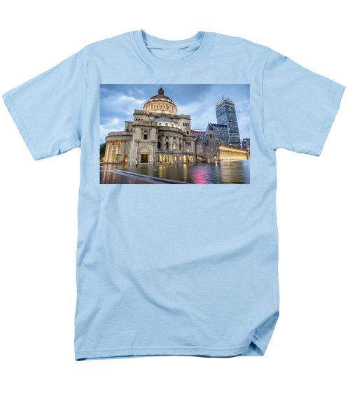 Men's T-Shirt  (Regular Fit) featuring the photograph Christian Science Center In Boston by Peter Ciro
