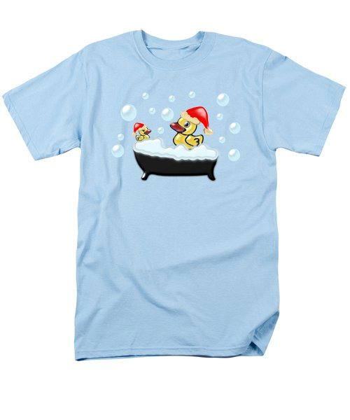 Christmas Ducks Men's T-Shirt  (Regular Fit) by Anastasiya Malakhova