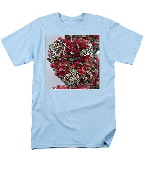 Christmas Heart Men's T-Shirt  (Regular Fit) by Linda Prewer