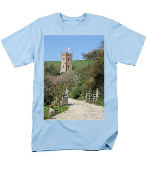 Church And The Flag Men's T-Shirt  (Regular Fit) by Linda Prewer