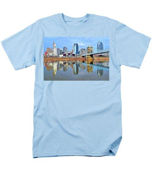 Cincinnati Ohio Times Two Men's T-Shirt  (Regular Fit)