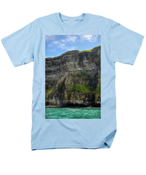 Men's T-Shirt  (Regular Fit) featuring the photograph Cliffs Of Moher From The Sea Close Up by RicardMN Photography