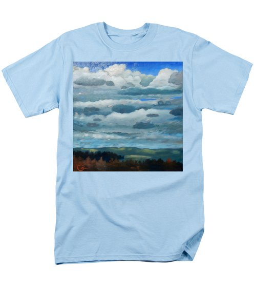 Men's T-Shirt  (Regular Fit) featuring the painting Clouds Over South Bay by Gary Coleman