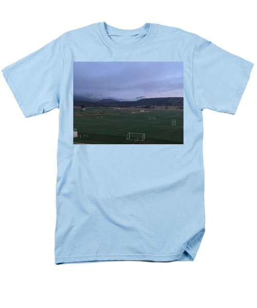 Cloudy Morning At The Field Men's T-Shirt  (Regular Fit) by Christin Brodie