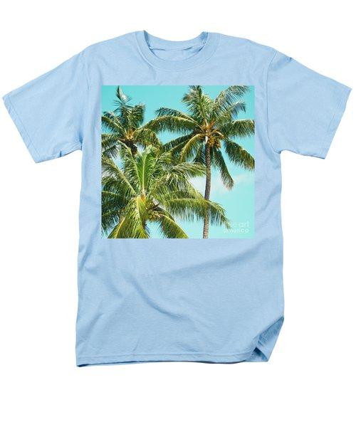Coconut Palm Trees Sugar Beach Kihei Maui Hawaii Men's T-Shirt  (Regular Fit) by Sharon Mau