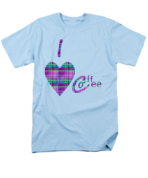 Coffee In Plaid Men's T-Shirt  (Regular Fit) by Kathleen Sartoris