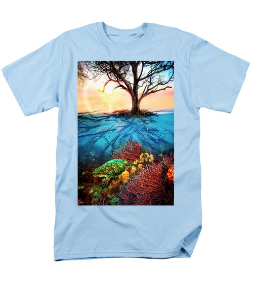 Men's T-Shirt  (Regular Fit) featuring the photograph Colorful Coral Seas by Debra and Dave Vanderlaan