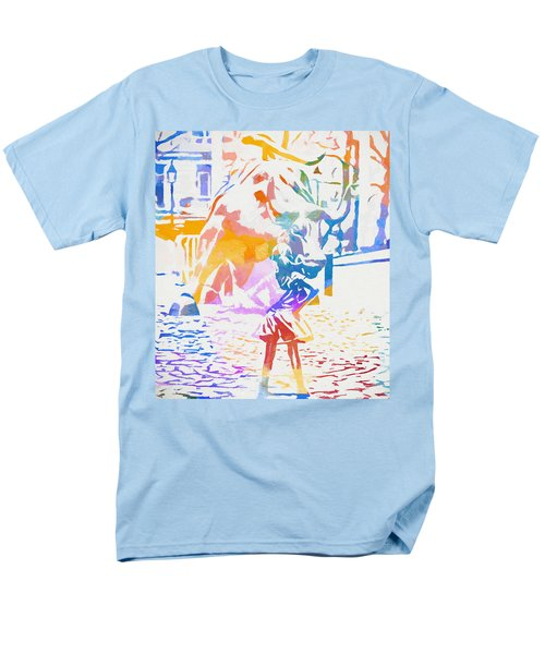 Men's T-Shirt  (Regular Fit) featuring the painting Colorful Fearless Girl by Dan Sproul