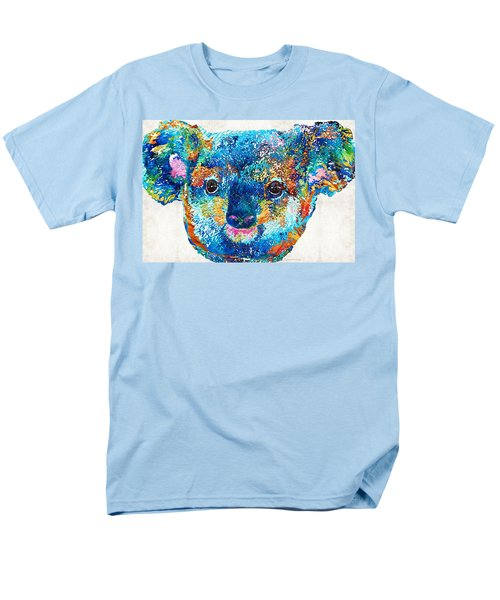 Colorful Koala Bear Art By Sharon Cummings Men's T-Shirt  (Regular Fit) by Sharon Cummings