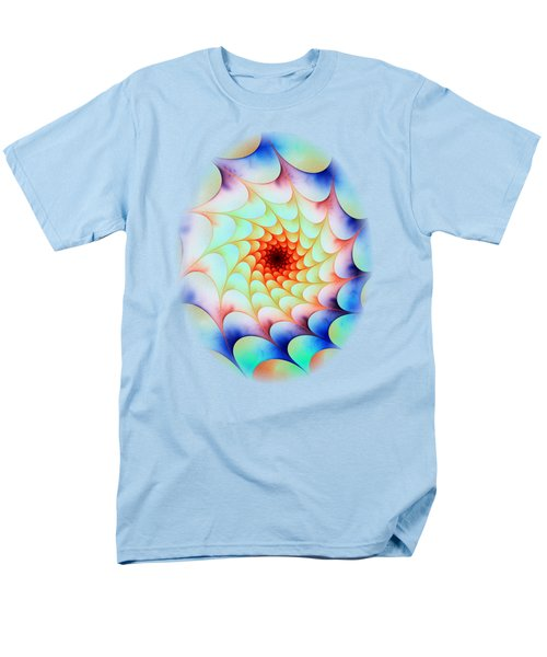 Men's T-Shirt  (Regular Fit) featuring the digital art Colorful Web by Anastasiya Malakhova