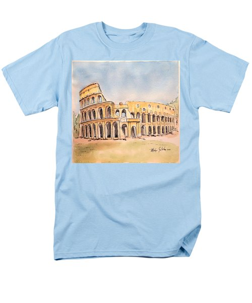Men's T-Shirt  (Regular Fit) featuring the painting Colosseum by Marilyn Zalatan