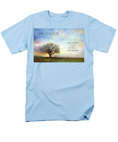 Men's T-Shirt  (Regular Fit) featuring the photograph Come Fly With Me by Lori Deiter