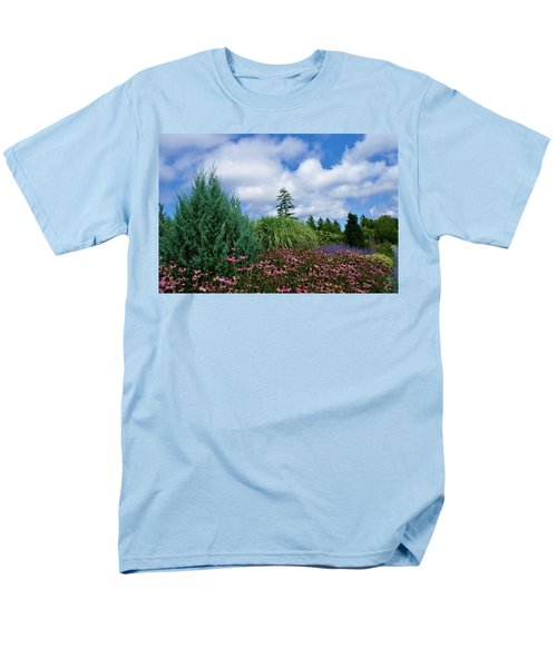 Men's T-Shirt  (Regular Fit) featuring the photograph Coneflowers And Clouds by Lois Lepisto