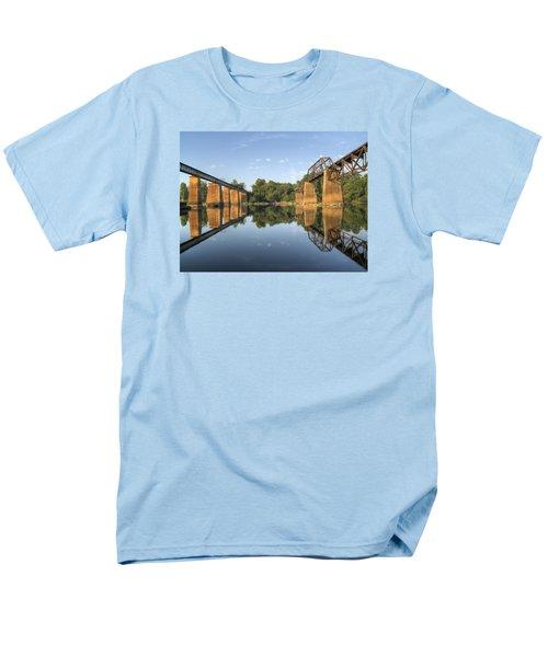 Congaree River Rr Trestles - 1 Men's T-Shirt  (Regular Fit) by Charles Hite