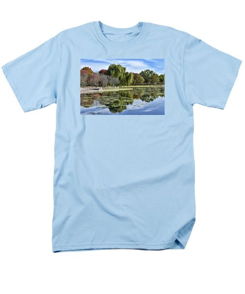 Constitution Gardens On The National Mall Men's T-Shirt  (Regular Fit) by Brendan Reals