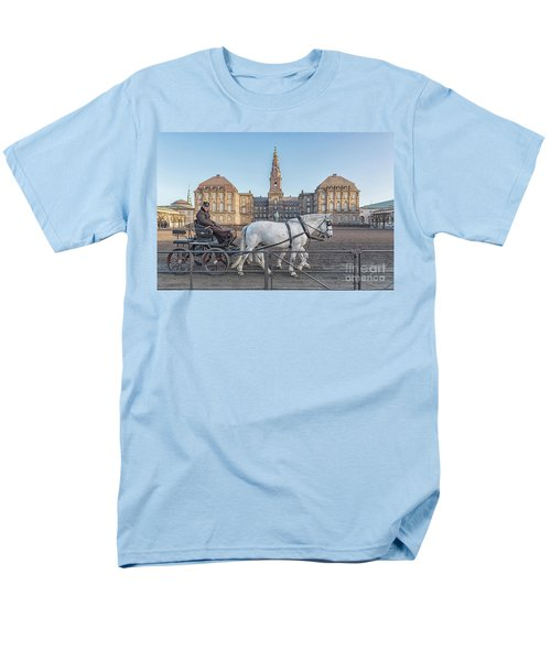 Men's T-Shirt  (Regular Fit) featuring the photograph Copenhagen Christianborg Palace Horse And Cart by Antony McAulay