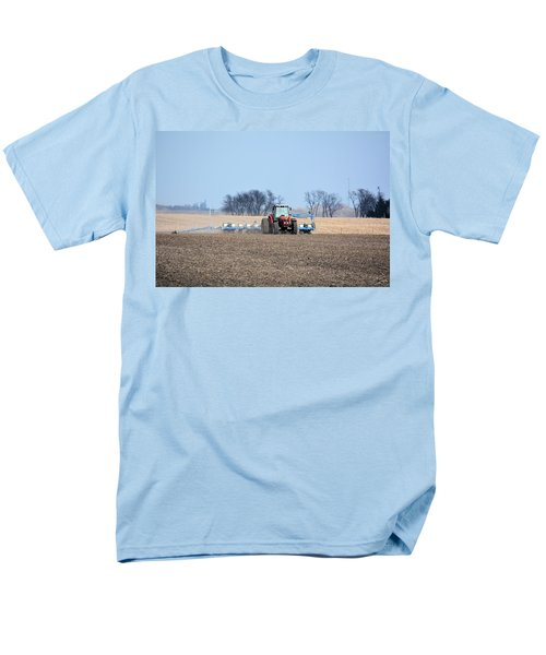 Corn Planting Men's T-Shirt  (Regular Fit) by Bonfire Photography