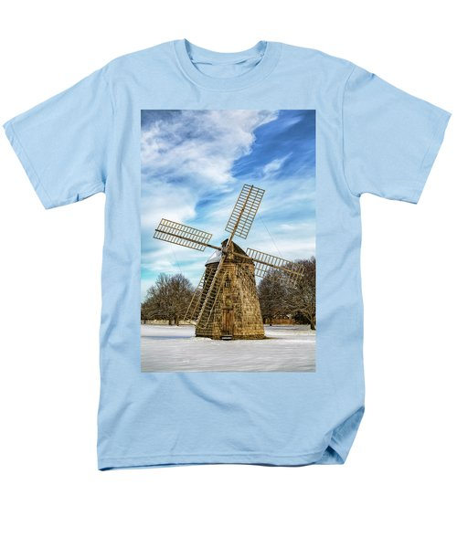 Men's T-Shirt  (Regular Fit) featuring the photograph Corwith Windmill Long Island Ny Cii by Susan Candelario