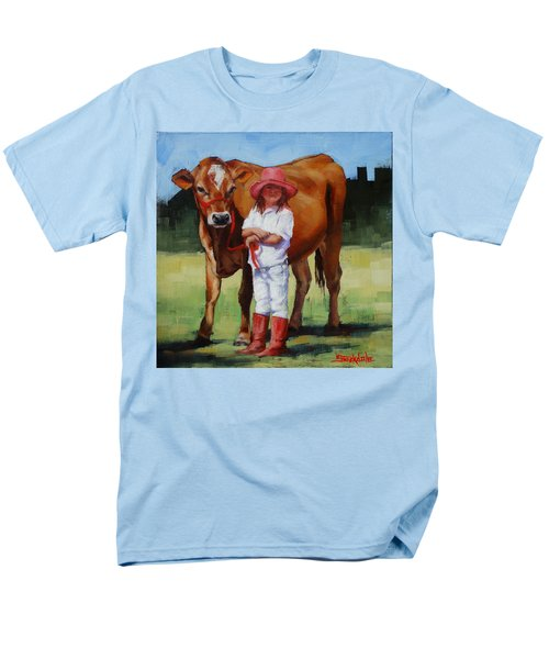 Men's T-Shirt  (Regular Fit) featuring the painting Cowgirl Besties by Margaret Stockdale