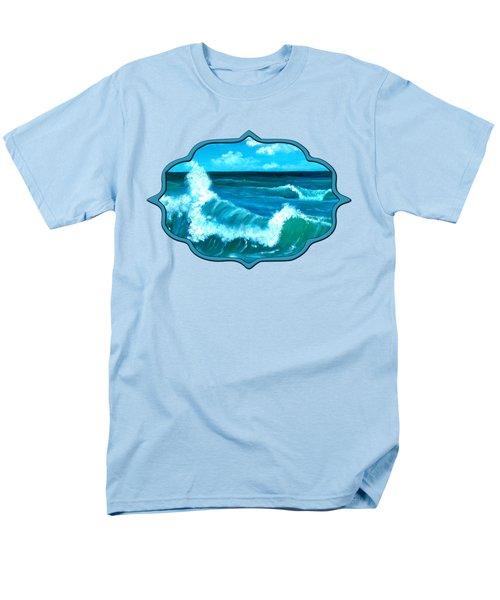 Men's T-Shirt  (Regular Fit) featuring the painting Crashing Wave by Anastasiya Malakhova