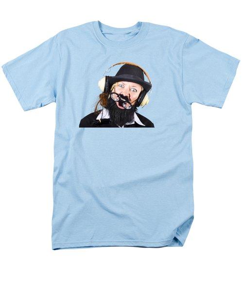Crazy Woman With Headphones Men's T-Shirt  (Regular Fit) by Jorgo Photography - Wall Art Gallery