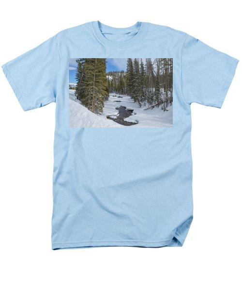 Crossing The Elk Men's T-Shirt  (Regular Fit) by Sean Allen