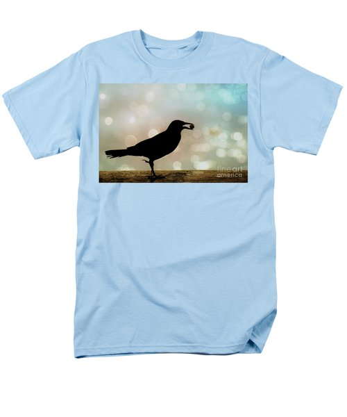 Men's T-Shirt  (Regular Fit) featuring the photograph Crow With Pistachio by Benanne Stiens