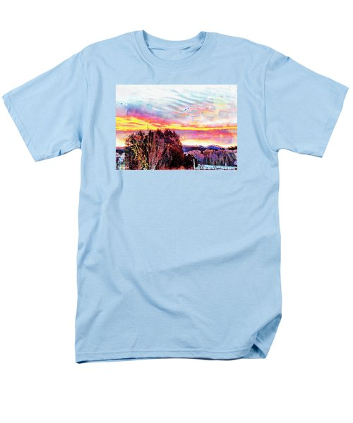 Crows Over Pre Dawn El Valle Men's T-Shirt  (Regular Fit) by Anastasia Savage Ealy