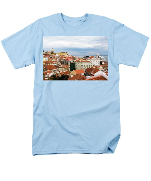 Men's T-Shirt  (Regular Fit) featuring the photograph Cruise Ship Peeks by Lorraine Devon Wilke