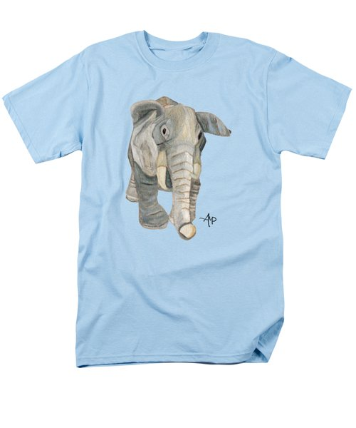 Cuddly Elephant Men's T-Shirt  (Regular Fit) by Angeles M Pomata