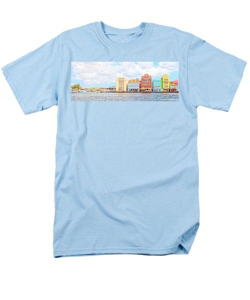 Men's T-Shirt  (Regular Fit) featuring the photograph Curacao Awash by Allen Carroll