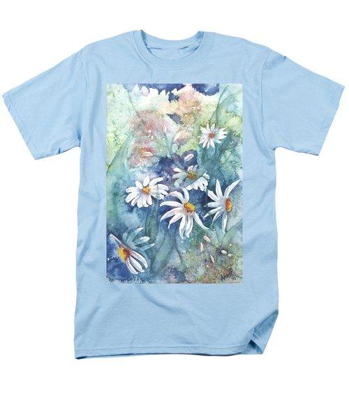 Men's T-Shirt  (Regular Fit) featuring the painting Dancing Daisies by Renate Nadi Wesley