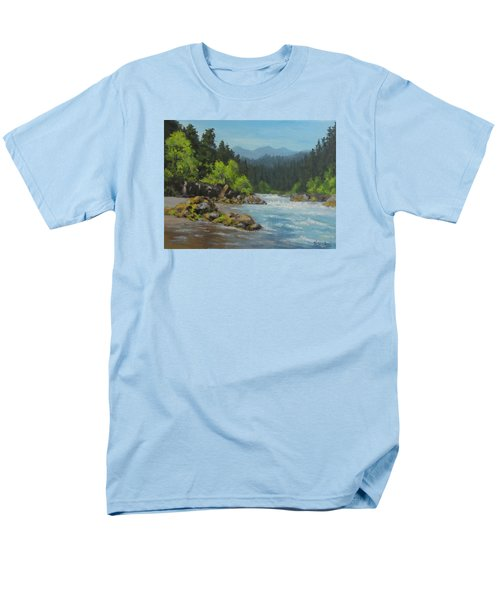 Men's T-Shirt  (Regular Fit) featuring the painting Dancing River by Karen Ilari
