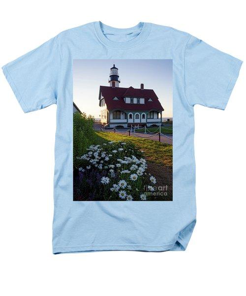 Men's T-Shirt  (Regular Fit) featuring the photograph Dawn At Portland Head Light, Cape Elizabeth, Maine  -08614 by John Bald