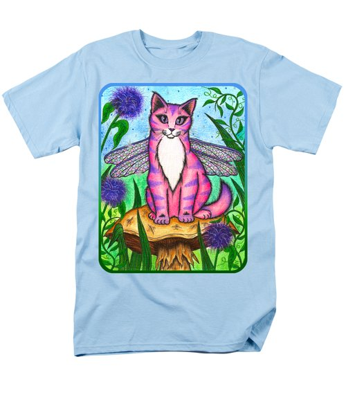 Men's T-Shirt  (Regular Fit) featuring the painting Dea Dragonfly Fairy Cat by Carrie Hawks