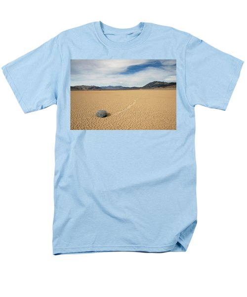 Men's T-Shirt  (Regular Fit) featuring the photograph Death Valley Ractrack by Breck Bartholomew