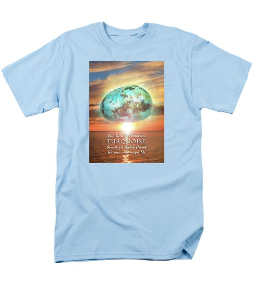 December Birthstone Turquoise Men's T-Shirt  (Regular Fit)