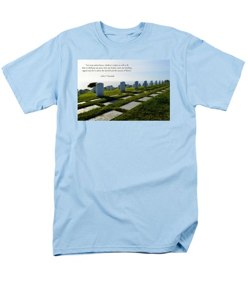 Men's T-Shirt  (Regular Fit) featuring the photograph Defending Liberty by Glenn McCarthy Art and Photography