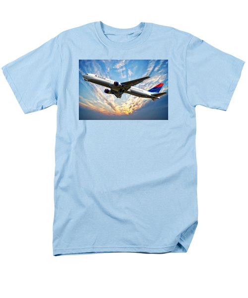 Delta Passenger Plane Men's T-Shirt  (Regular Fit) by Anthony Dezenzio