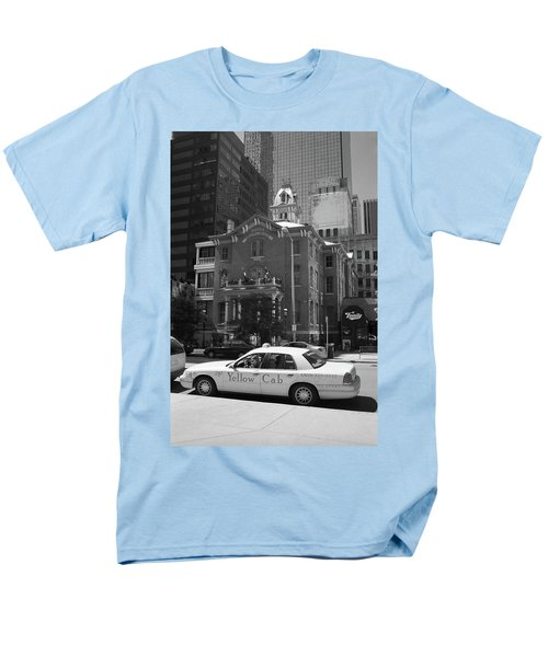 Denver Downtown With Yellow Cab Bw Men's T-Shirt  (Regular Fit) by Frank Romeo