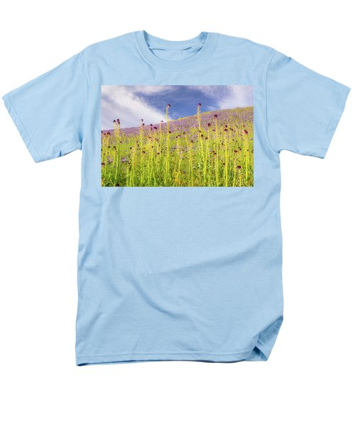 Desert Candles At Carrizo Plain Men's T-Shirt  (Regular Fit) by Marc Crumpler