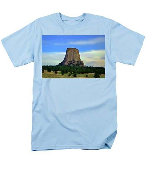 Men's T-Shirt  (Regular Fit) featuring the photograph Devils Tower 002 by George Bostian