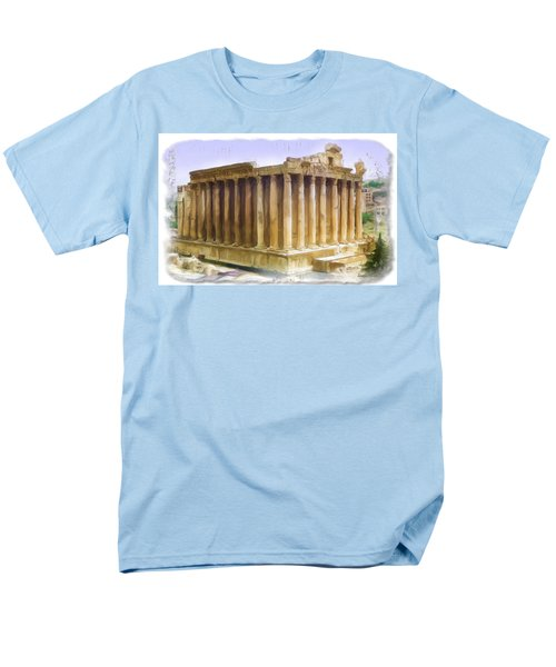 Do-00312 Temple Of Bacchus In Baalbeck Men's T-Shirt  (Regular Fit) by Digital Oil
